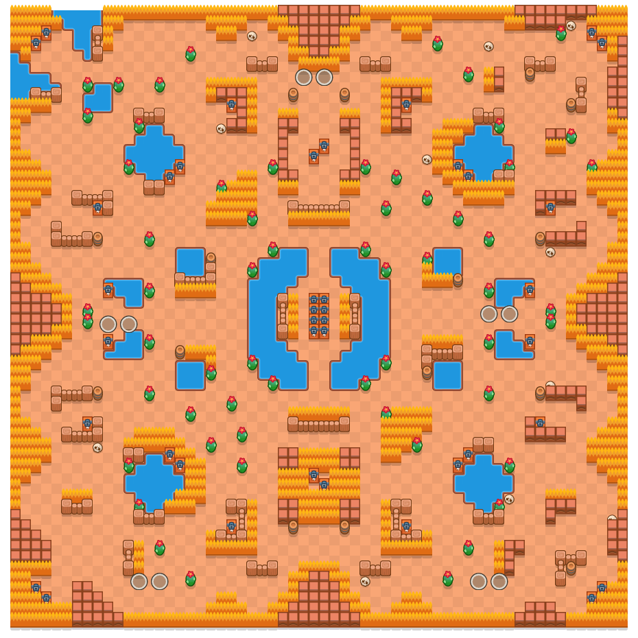Acid Lakes is a Duo Showdown map in Brawl Stars.