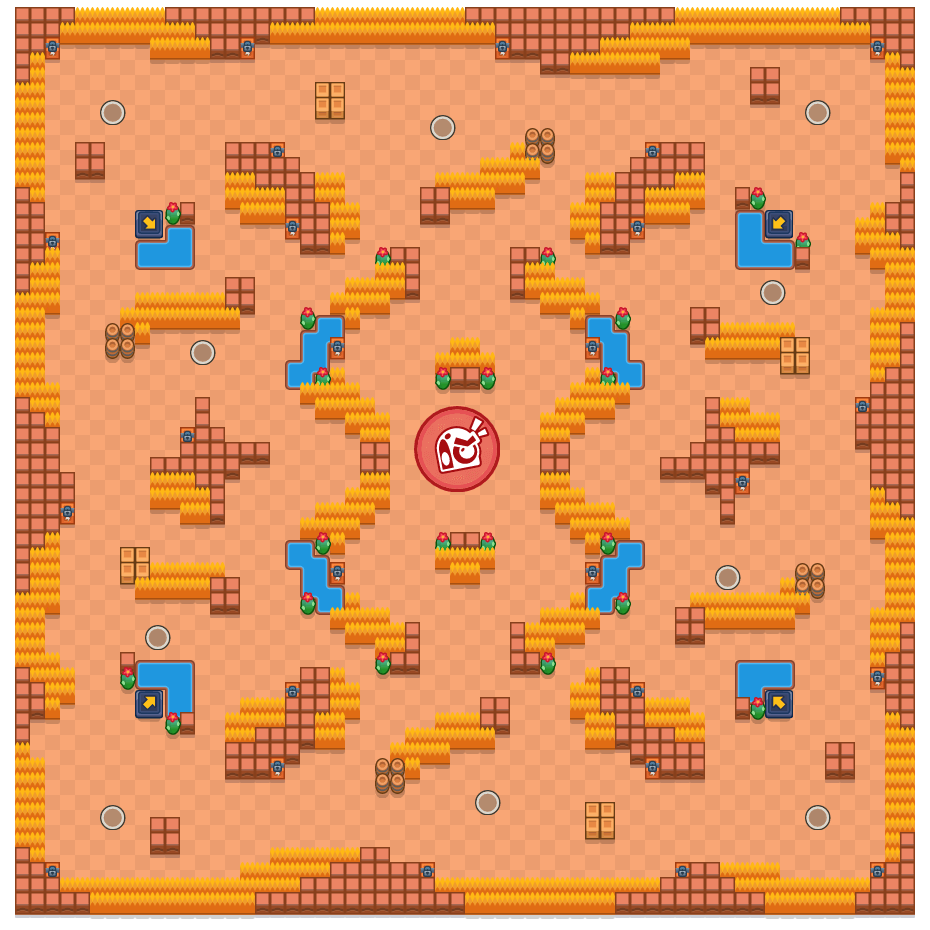 Alligator Alley is a Takedown Brawl Stars map. Check out Alligator Alley's map picture for Takedown and the best and recommended brawlers in Brawl Stars.