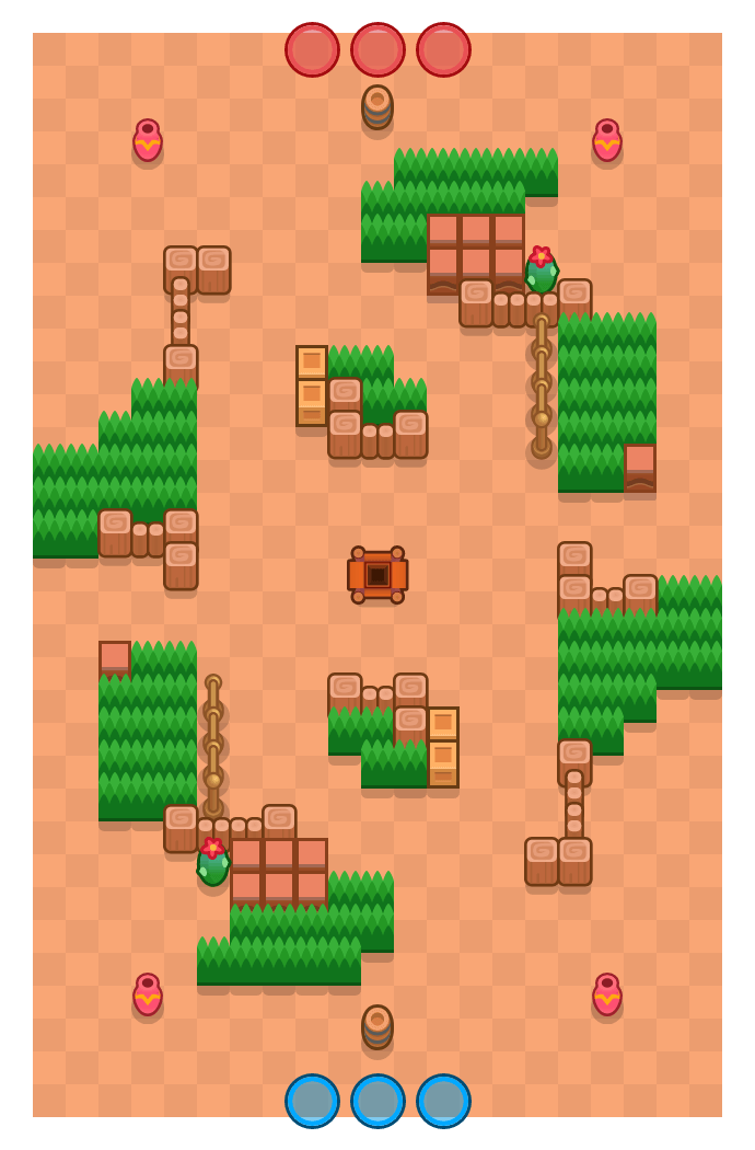 Waanzinnige arena is a Edelstenengraai Brawl Stars map. Check out Waanzinnige arena's map picture for Edelstenengraai and the best and recommended brawlers in Brawl Stars.