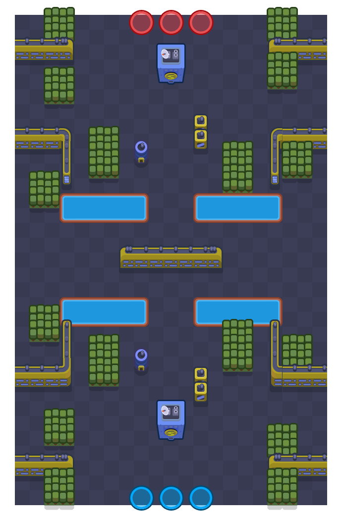 Bandit Stash is a Heist Brawl Stars map. Check out Bandit Stash's map picture for Heist and the best and recommended brawlers in Brawl Stars.