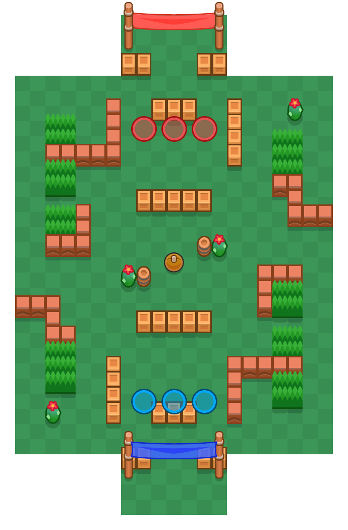 Bank Shot is a Brawl Ball map in Brawl Stars.