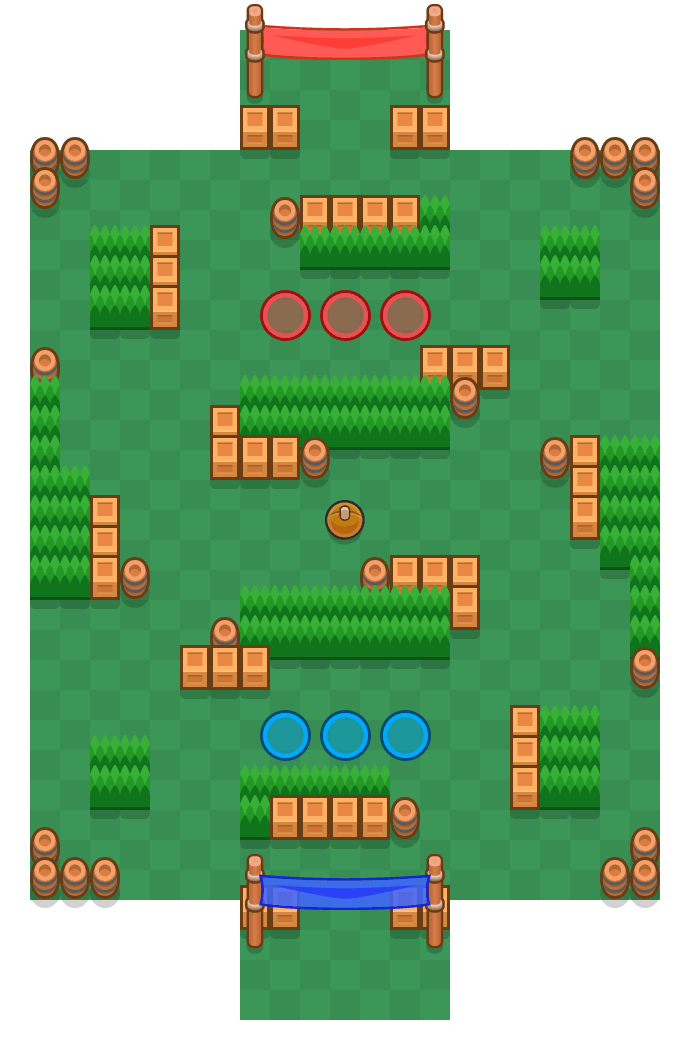 Plaj Topu is a Savaş Topu map in Brawl Stars.