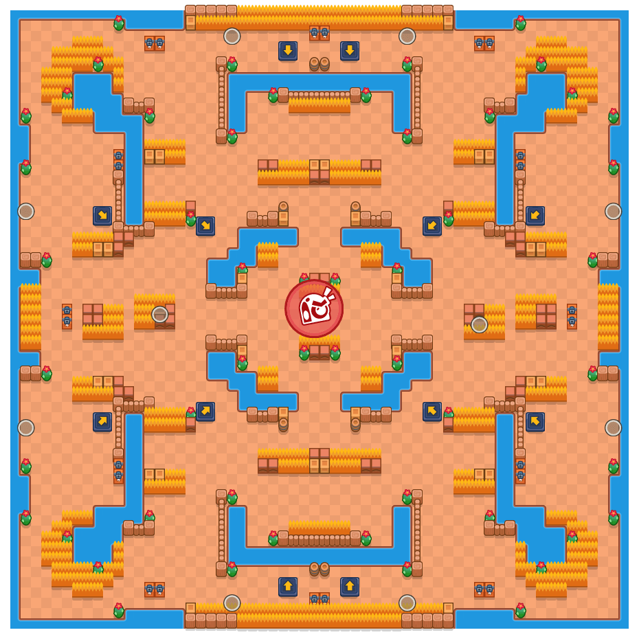 Boss Drop is a Takedown Brawl Stars map. Check out Boss Drop's map picture for Takedown and the best and recommended brawlers in Brawl Stars.