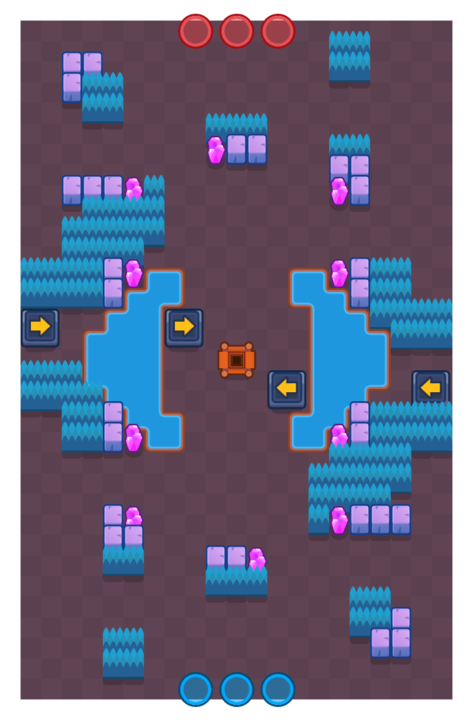 Bouncing Diner is a Gem Grab map in Brawl Stars.