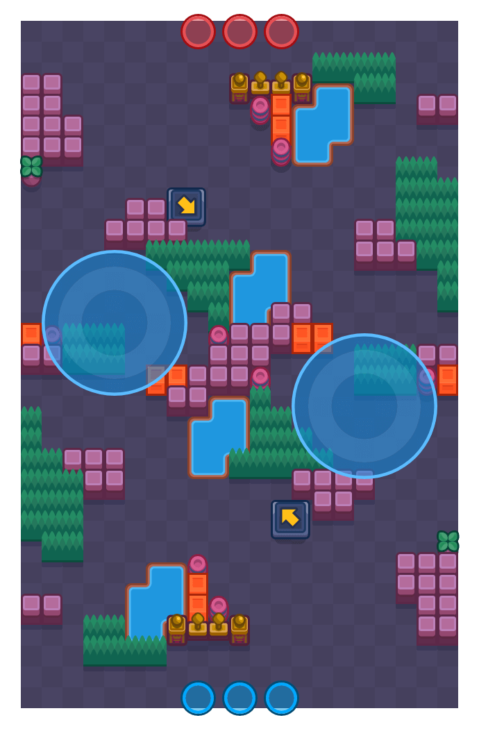 Breakout Brawl is a Hot Zone Brawl Stars map. Check out Breakout Brawl's map picture for Hot Zone and the best and recommended brawlers in Brawl Stars.