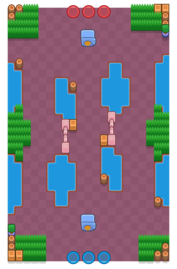 Aguas turbulentas is a Atraco Brawl Stars map. Check out Aguas turbulentas's map picture for Atraco and the best and recommended brawlers in Brawl Stars.