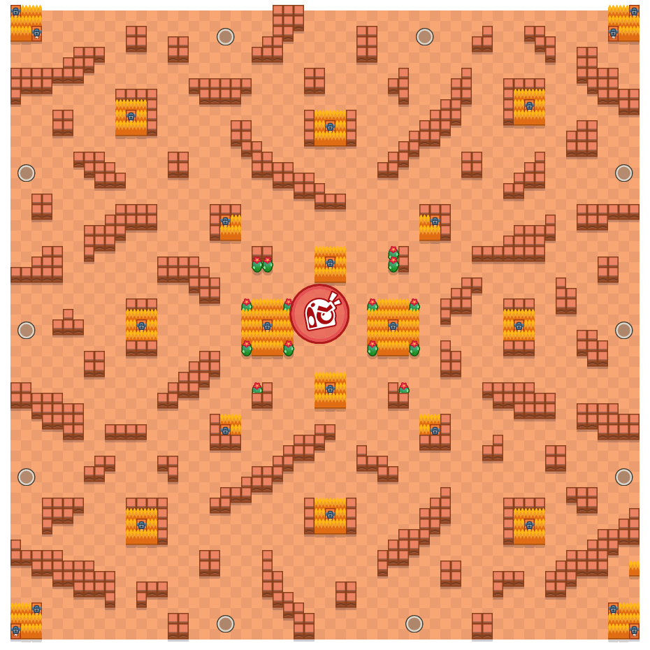 Bulk Up is a Takedown Brawl Stars map. Check out Bulk Up's map picture for Takedown and the best and recommended brawlers in Brawl Stars.