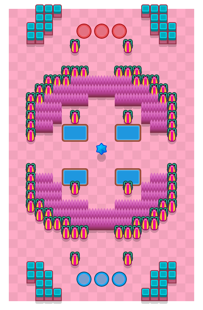 Bull Pen is a Bounty Brawl Stars map. Check out Bull Pen's map picture for Bounty and the best and recommended brawlers in Brawl Stars.