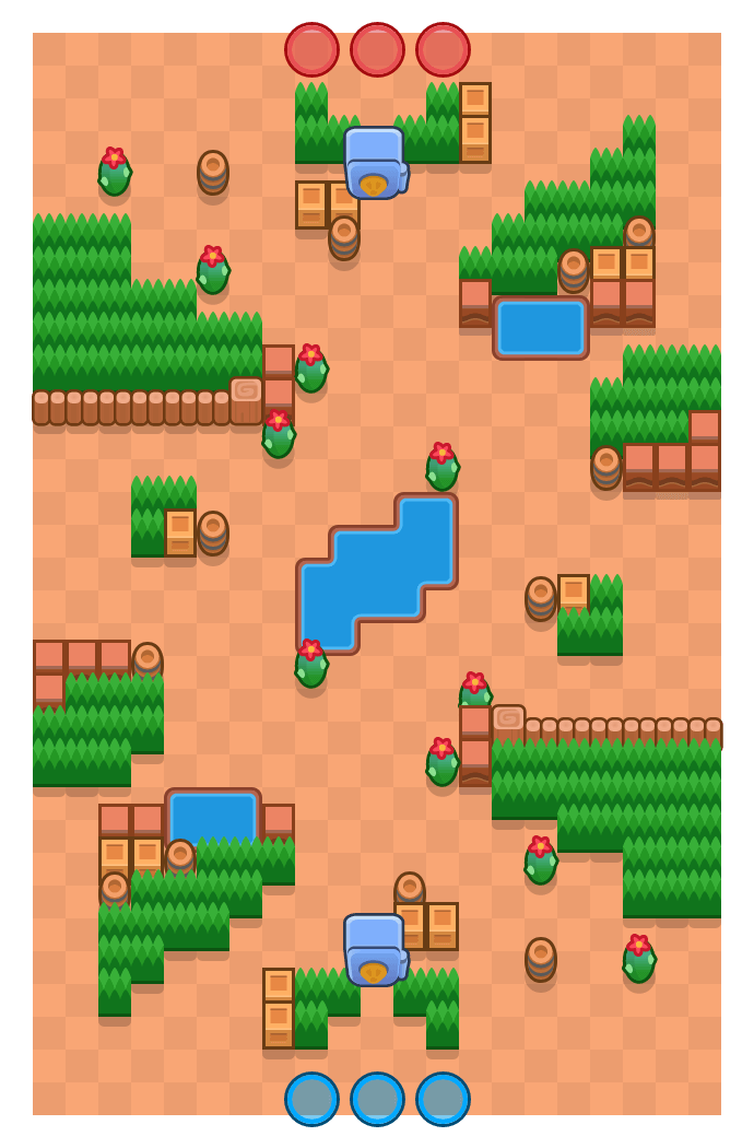 Corredor de cactus is a Atraco Brawl Stars map. Check out Corredor de cactus's map picture for Atraco and the best and recommended brawlers in Brawl Stars.