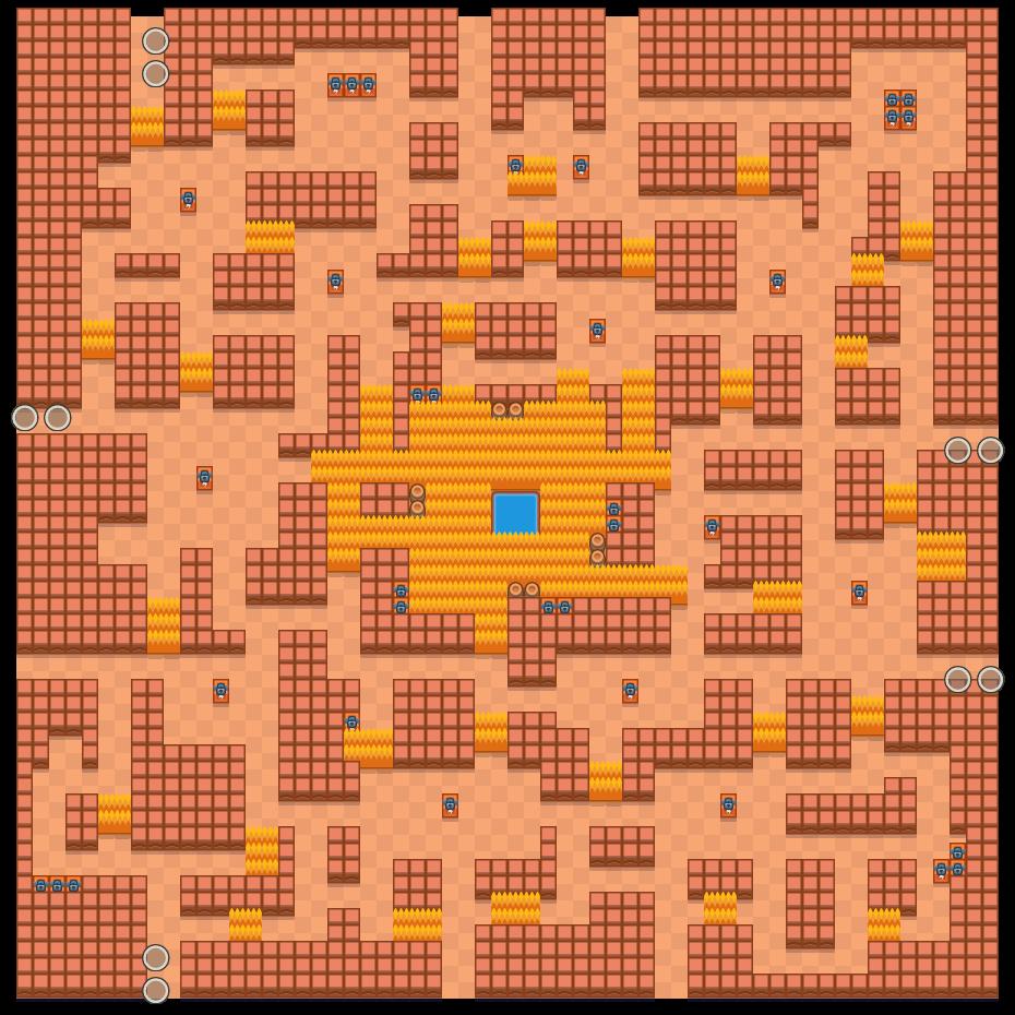 Luolalinko is a Kaksinpeliselkkaus map in Brawl Stars.