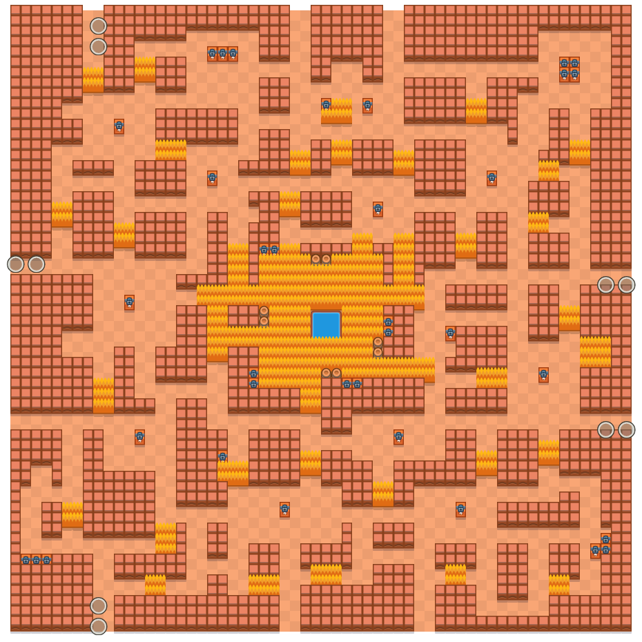 Cavern Churn is a Duo Showdown Brawl Stars map. Check out Cavern Churn's map picture for Duo Showdown and the best and recommended brawlers in Brawl Stars.