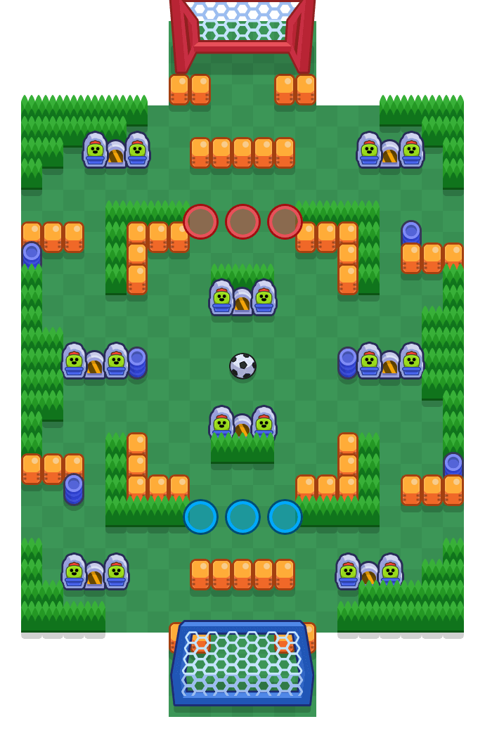 Center Field is a Brawl Ball Brawl Stars map. Check out Center Field's map picture for Brawl Ball and the best and recommended brawlers in Brawl Stars.