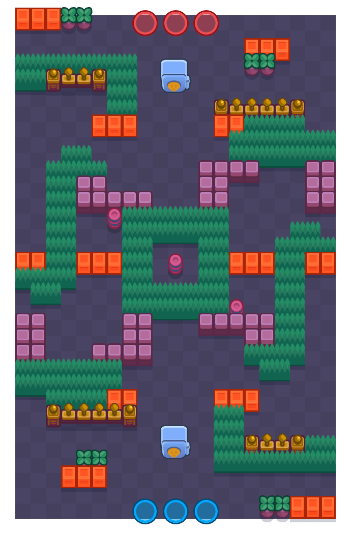 Tráfico is a Atraco Brawl Stars map. Check out Tráfico's map picture for Atraco and the best and recommended brawlers in Brawl Stars.