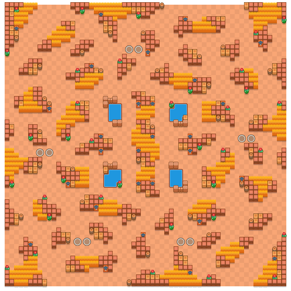 Circular Canyon is a Duo Showdown Brawl Stars map. Check out Circular Canyon's map picture for Duo Showdown and the best and recommended brawlers in Brawl Stars.