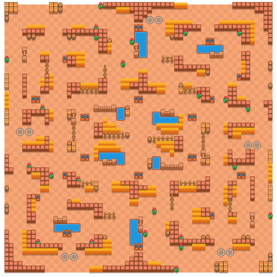 Clash Colosseum is a Duo Showdown Brawl Stars map. Check out Clash Colosseum's map picture for Duo Showdown and the best and recommended brawlers in Brawl Stars.