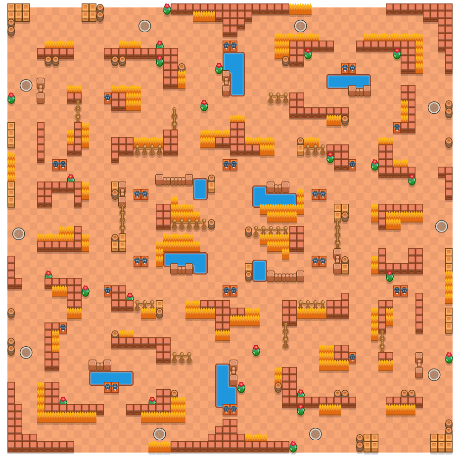 Clash Colosseum is a Solo Showdown Brawl Stars map. Check out Clash Colosseum's map picture for Solo Showdown and the best and recommended brawlers in Brawl Stars.