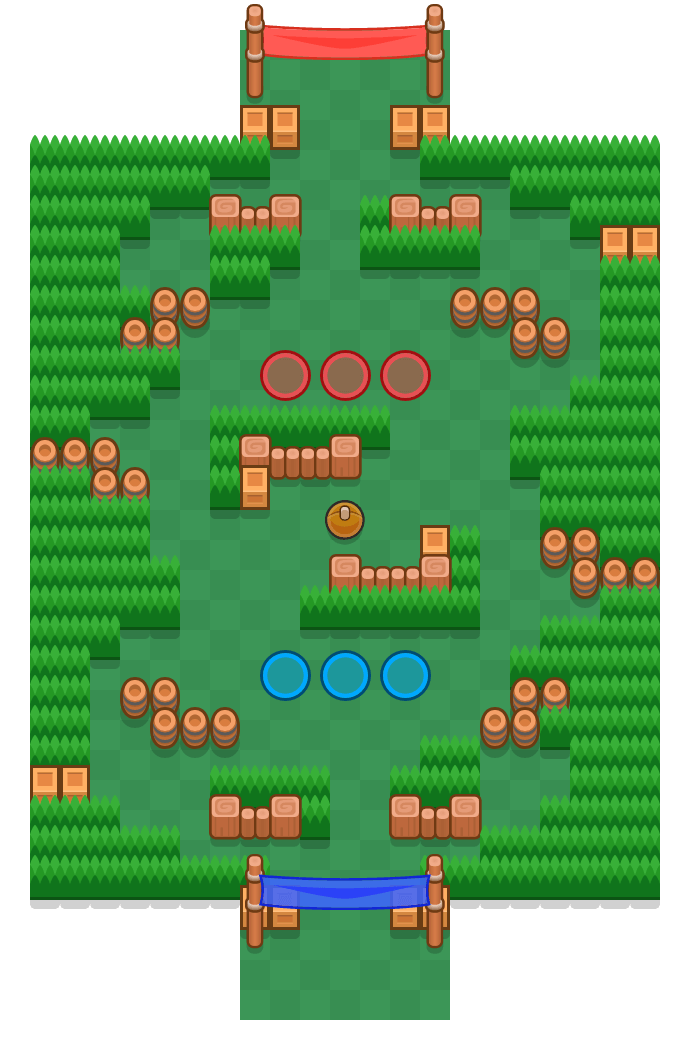 Coarse Course is a Brawl Ball map in Brawl Stars.