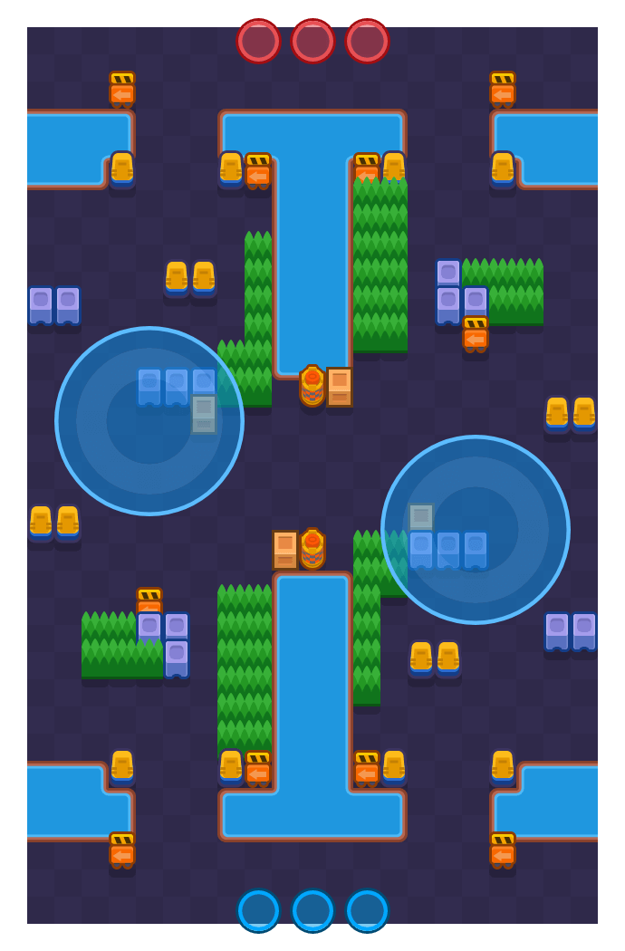 Control Grande is a Hot Zone map in Brawl Stars.