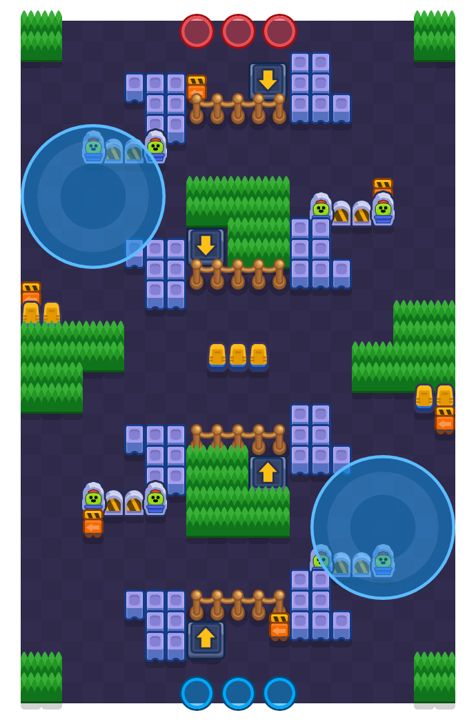 Conveyor Clash is a Hot Zone Brawl Stars map. Check out Conveyor Clash's map picture for Hot Zone and the best and recommended brawlers in Brawl Stars.