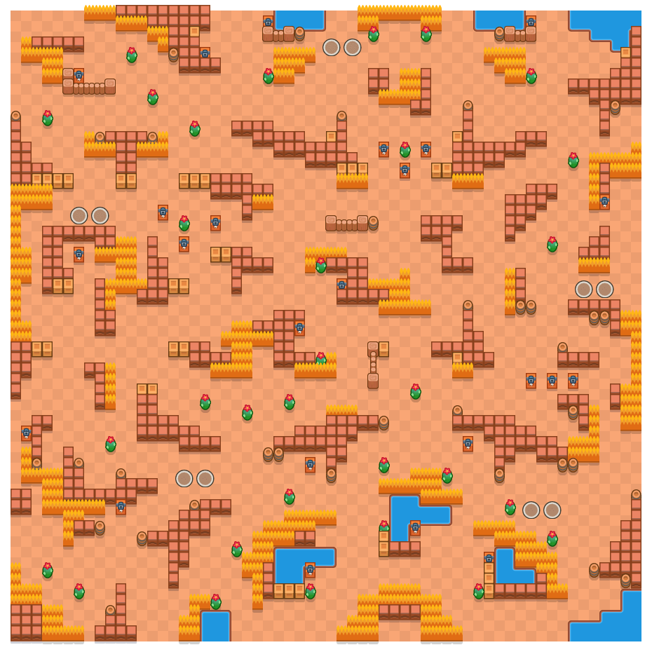 Core Crumble is a Duo Showdown map in Brawl Stars.