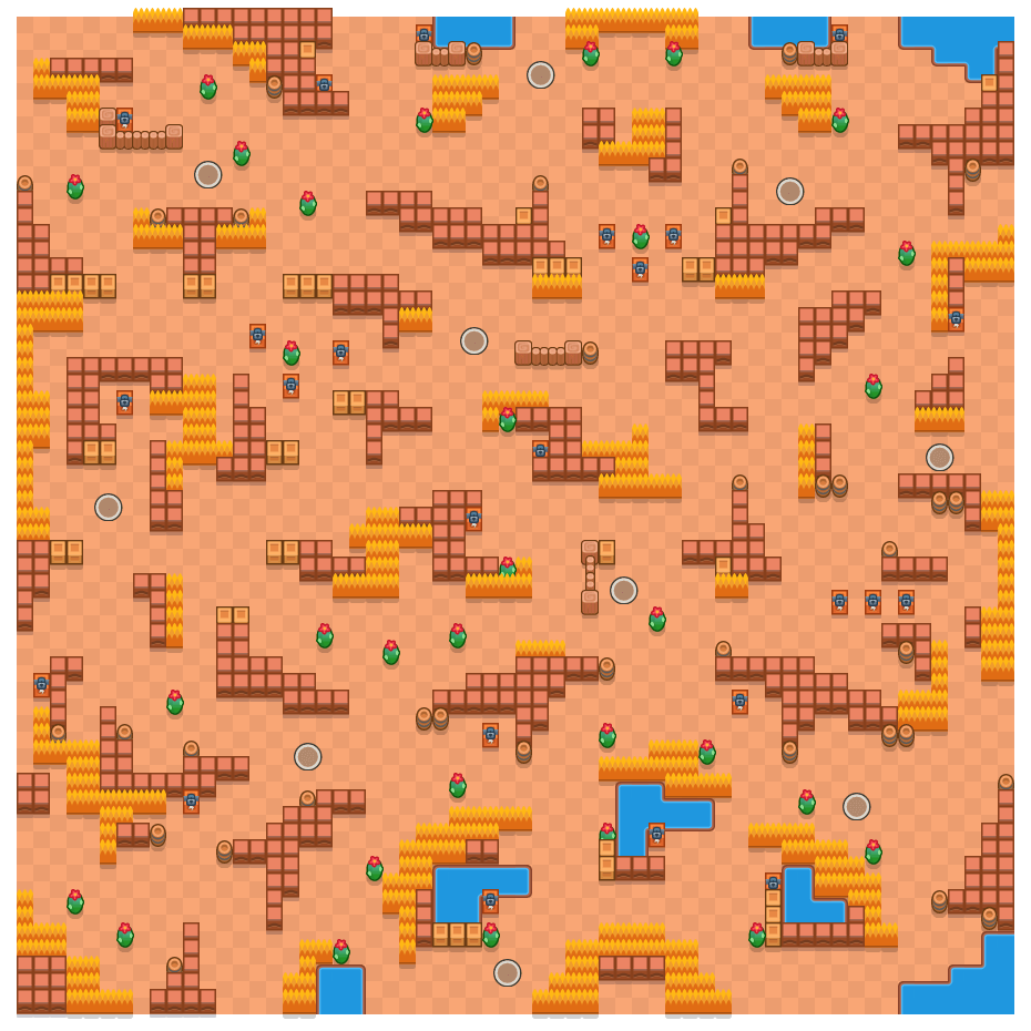 Afgebrokkelde kern is a Solo-Showdown Brawl Stars map. Check out Afgebrokkelde kern's map picture for Solo-Showdown and the best and recommended brawlers in Brawl Stars.