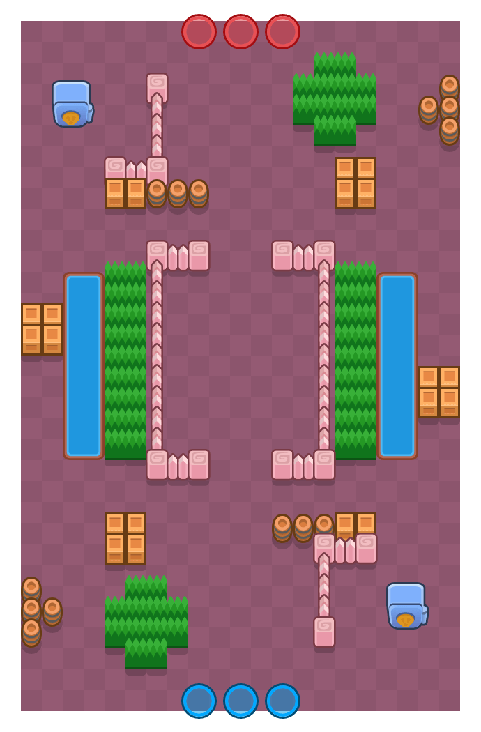 Saque de esquina is a Atraco Brawl Stars map. Check out Saque de esquina's map picture for Atraco and the best and recommended brawlers in Brawl Stars.