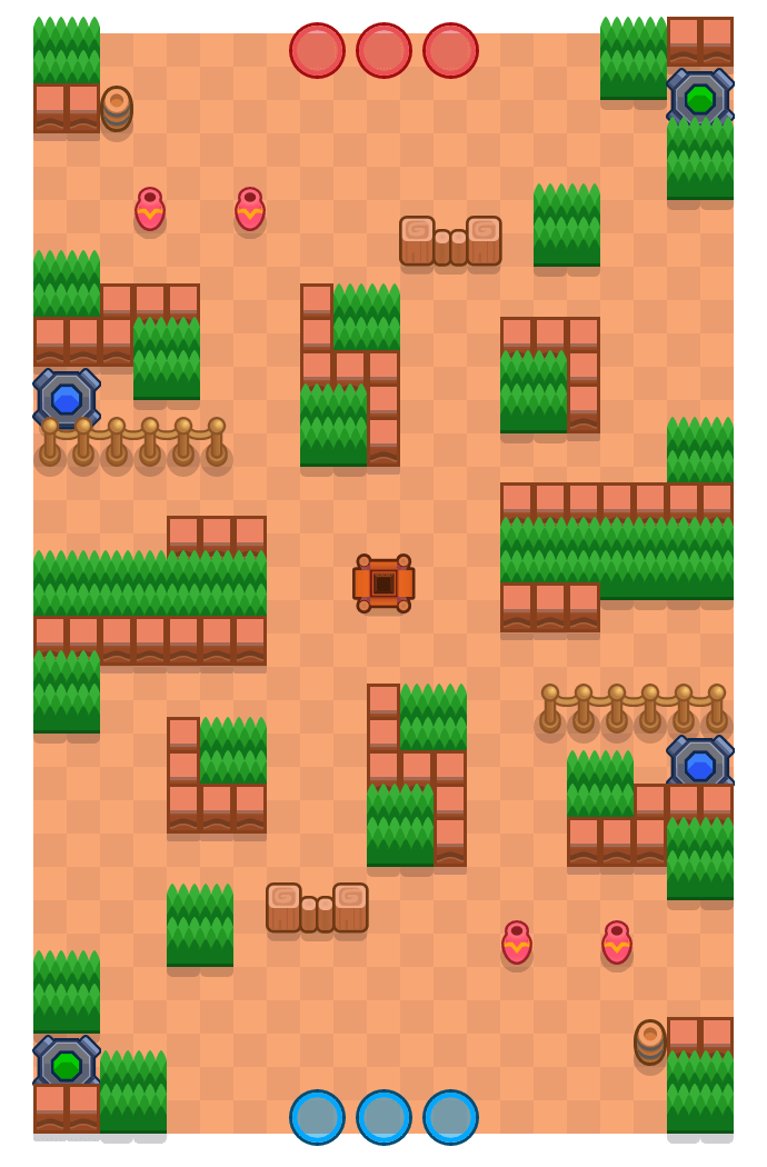 Corner Case is a Gem Grab Brawl Stars map. Check out Corner Case's map picture for Gem Grab and the best and recommended brawlers in Brawl Stars.