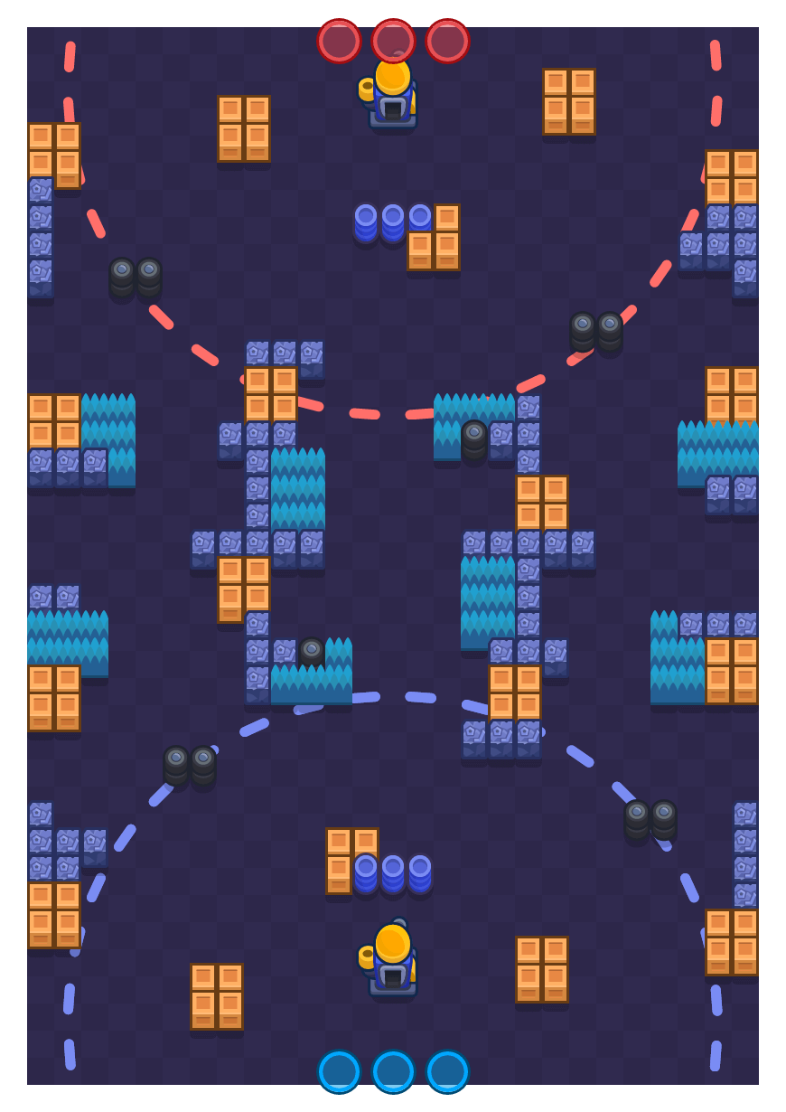 Crated Factory is a Siege Brawl Stars map. Check out Crated Factory's map picture for Siege and the best and recommended brawlers in Brawl Stars.