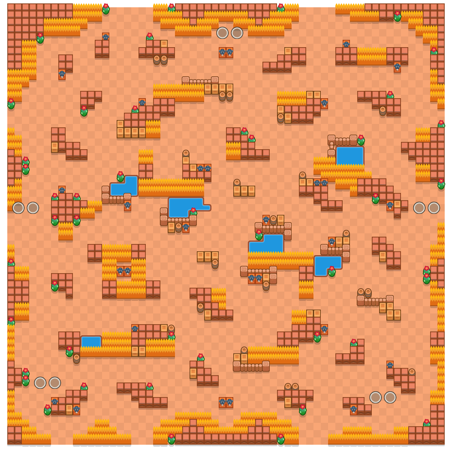 Critical Crossing is a Duo Showdown Brawl Stars map. Check out Critical Crossing's map picture for Duo Showdown and the best and recommended brawlers in Brawl Stars.