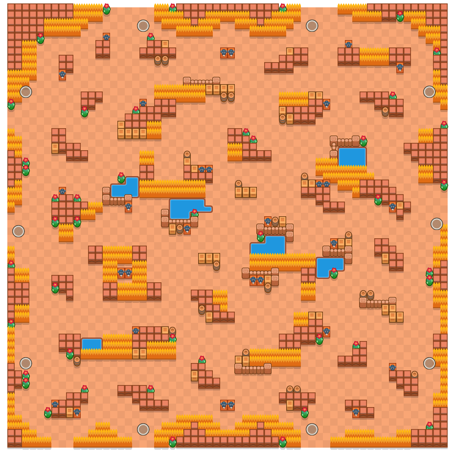 Cruciale oversteek is a Solo-Showdown Brawl Stars map. Check out Cruciale oversteek's map picture for Solo-Showdown and the best and recommended brawlers in Brawl Stars.
