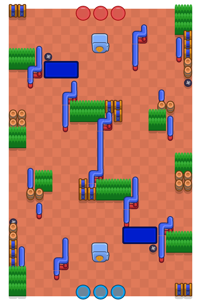 Crossroads is a Heist Brawl Stars map. Check out Crossroads's map picture for Heist and the best and recommended brawlers in Brawl Stars.