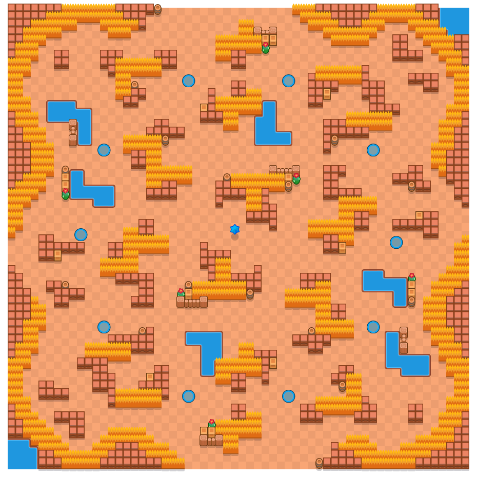 Crossroads is a Lone Star map in Brawl Stars.