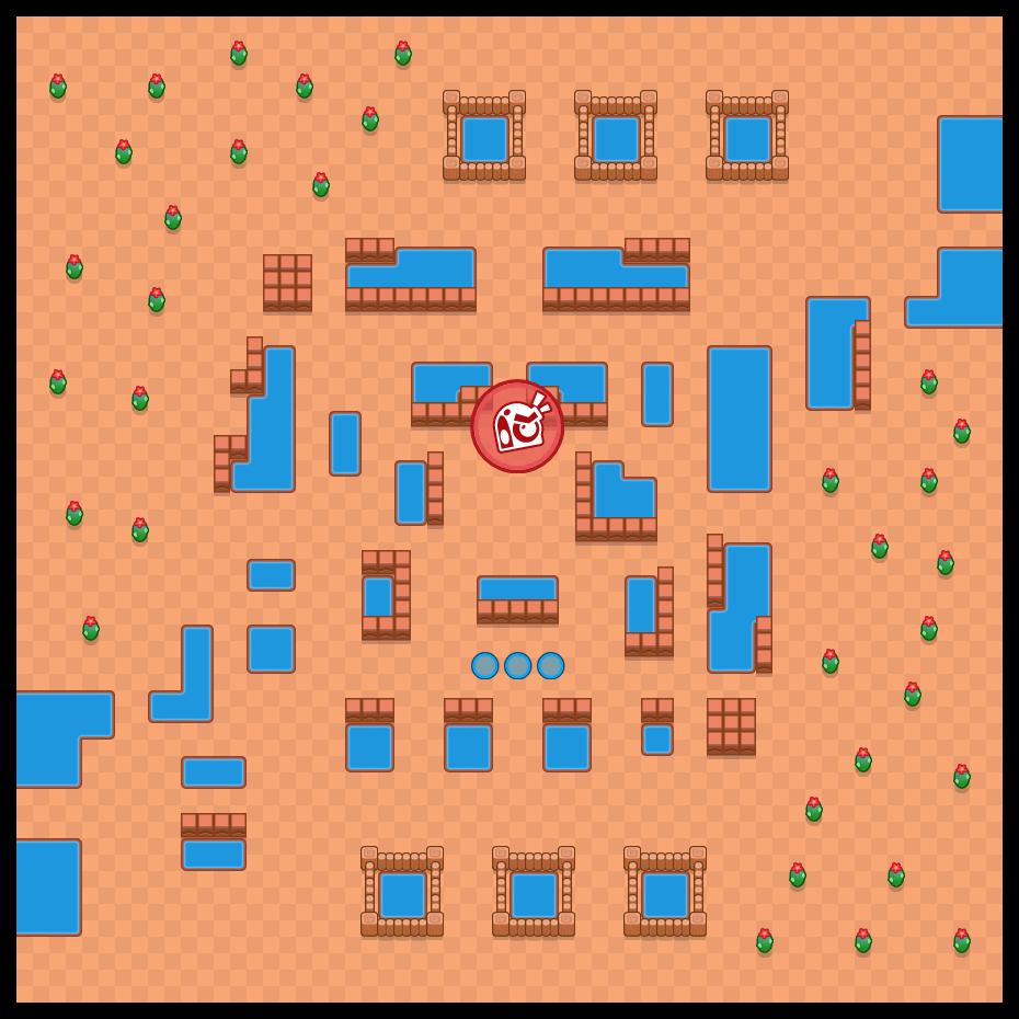 Zona de peligro is a Todos Contra Uno map in Brawl Stars.