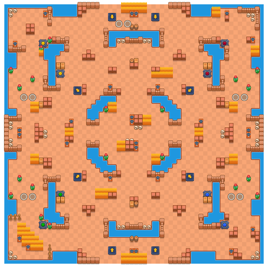 Fantasias sombrias is a Combate Duplo map in Brawl Stars.