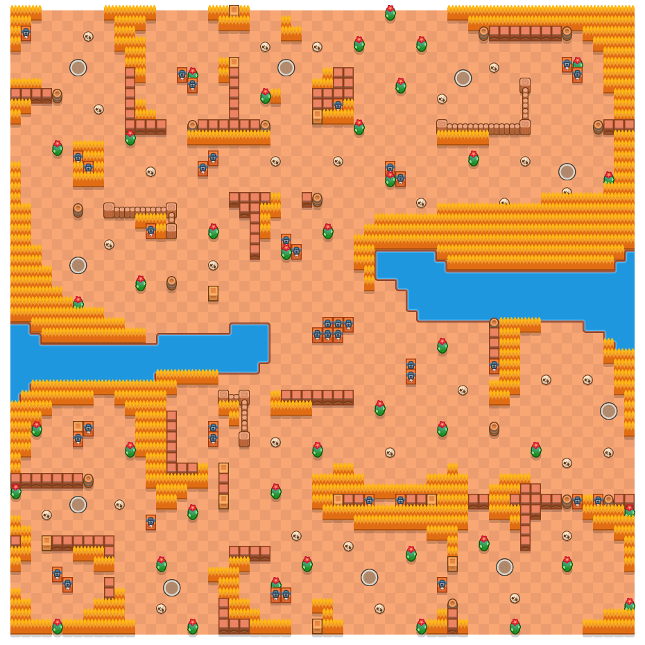 Dark Passage is a Solo Showdown Brawl Stars map. Check out Dark Passage's map picture for Solo Showdown and the best and recommended brawlers in Brawl Stars.