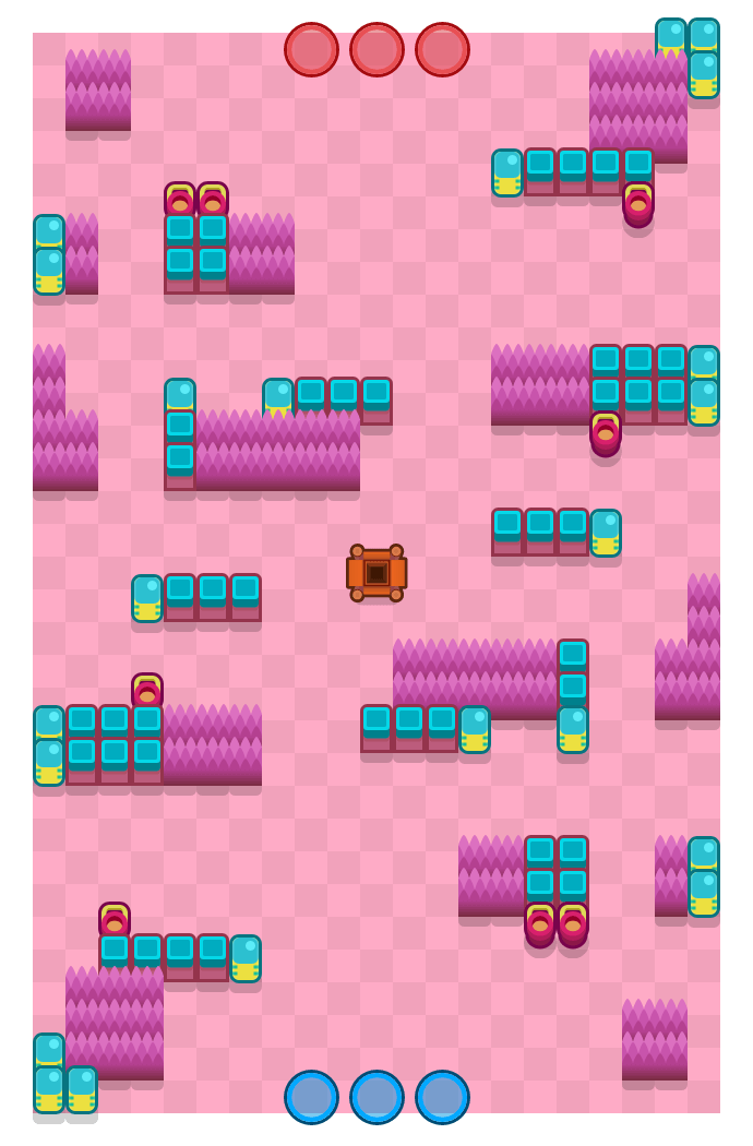 Deep Diner is a Gem Grab map in Brawl Stars.