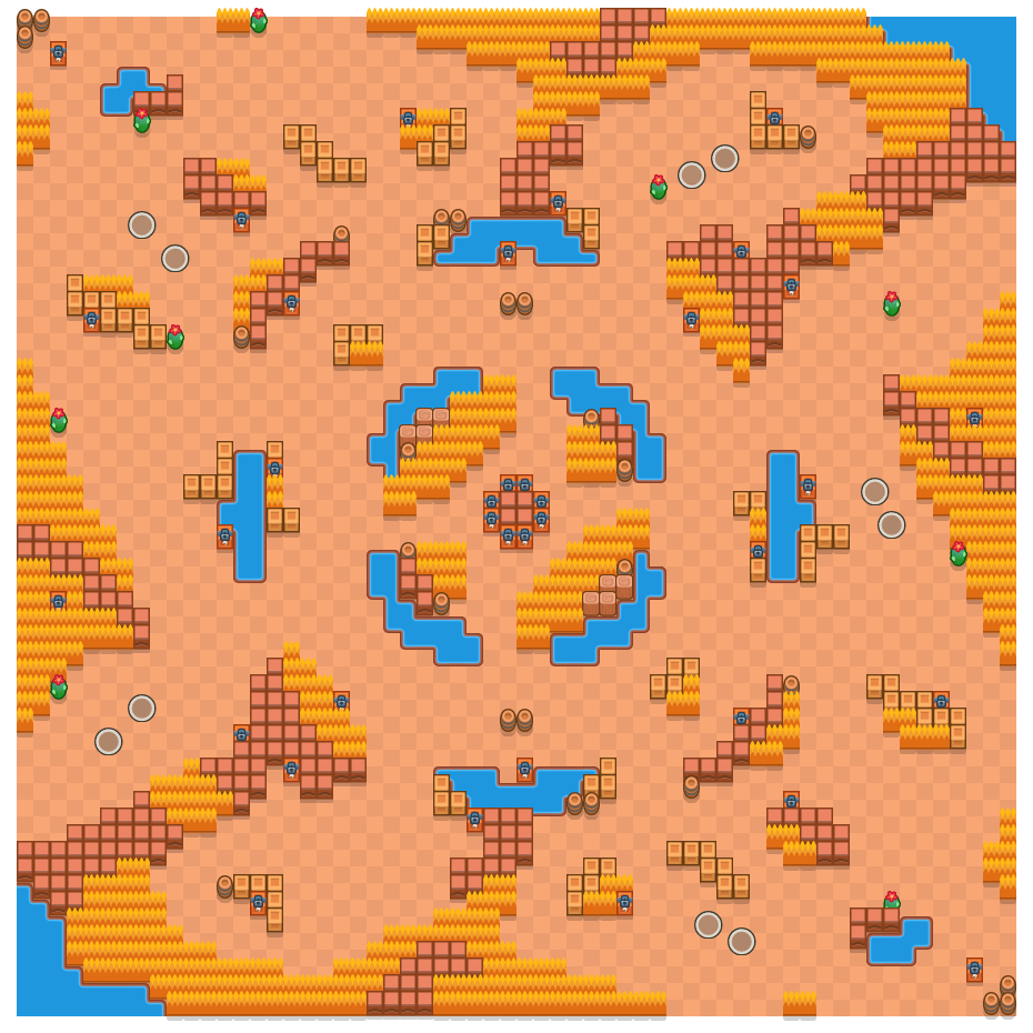 Deserted Vertex is a Duo Showdown Brawl Stars map. Check out Deserted Vertex's map picture for Duo Showdown and the best and recommended brawlers in Brawl Stars.