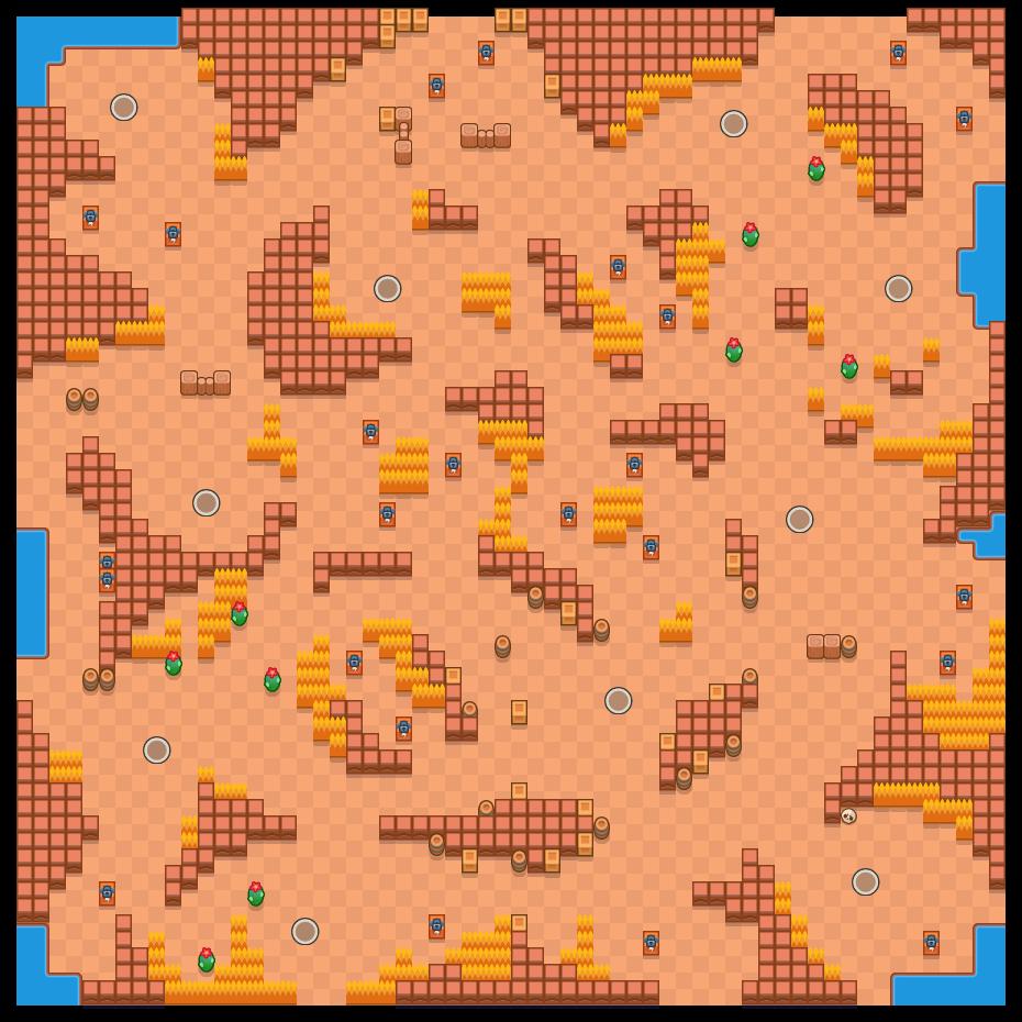 Çöl Yarışı is a Tek Hesaplaşma map in Brawl Stars.