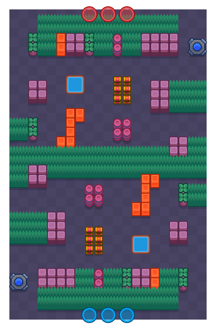 Ends Meet is a Knockout Brawl Stars map. Check out Ends Meet's map picture for Knockout and the best and recommended brawlers in Brawl Stars.