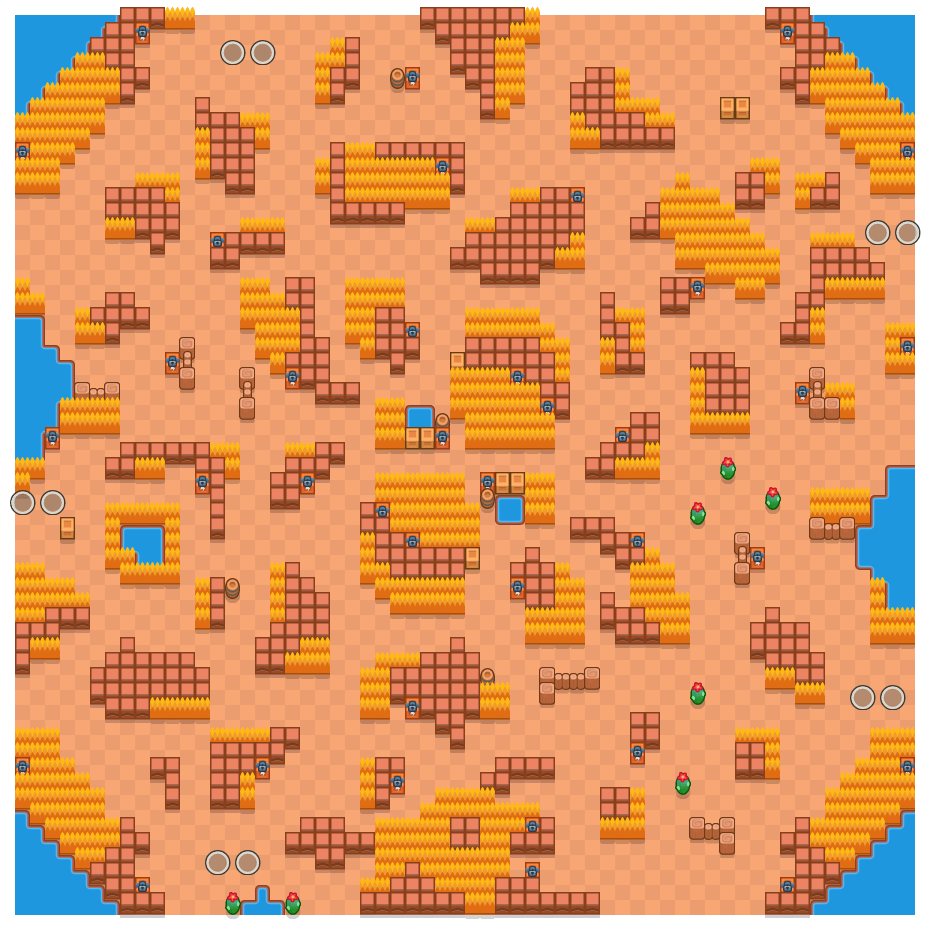 Erratic Blocks is a Duo Showdown Brawl Stars map. Check out Erratic Blocks's map picture for Duo Showdown and the best and recommended brawlers in Brawl Stars.