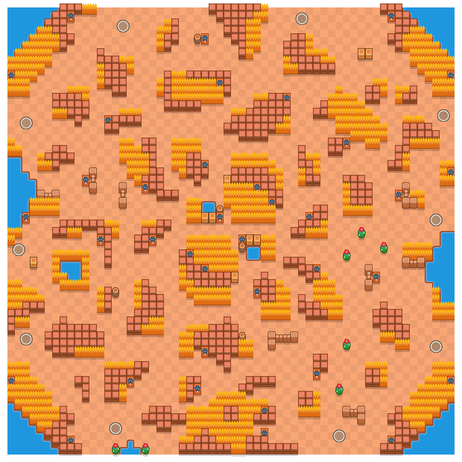 Erratic Blocks is a Solo Showdown Brawl Stars map. Check out Erratic Blocks's map picture for Solo Showdown and the best and recommended brawlers in Brawl Stars.