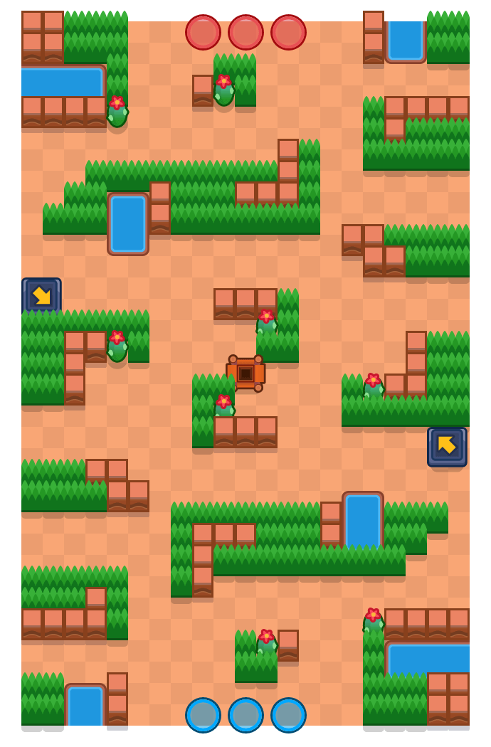 Ontsnappingsroute is a Edelstenengraai map in Brawl Stars.