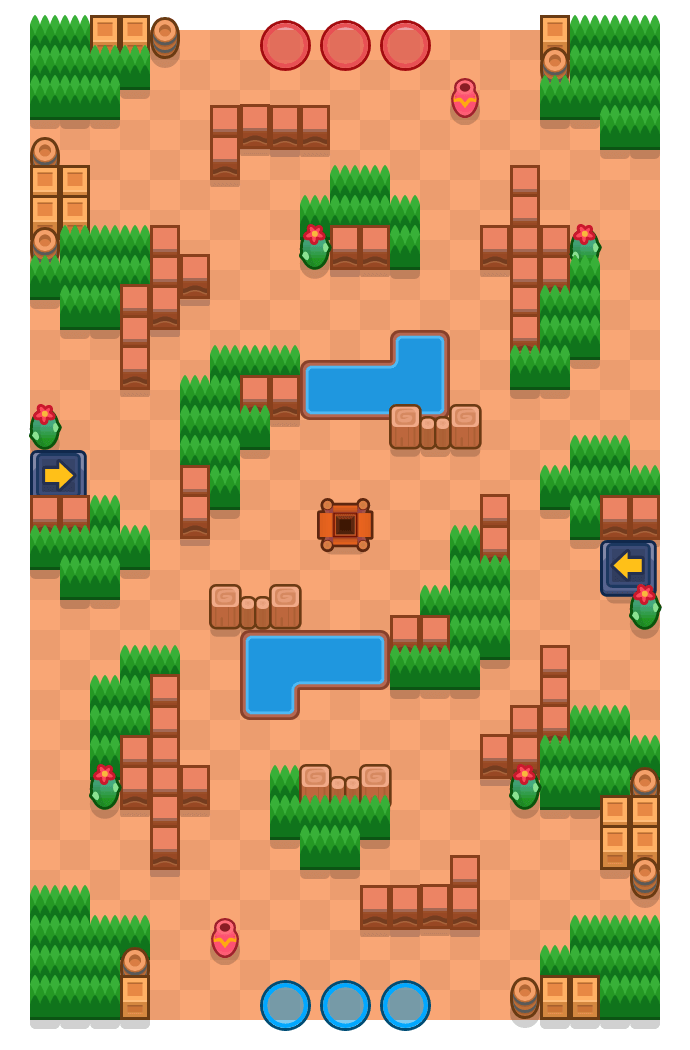 Excellent Escapade is a Gem Grab map in Brawl Stars.
