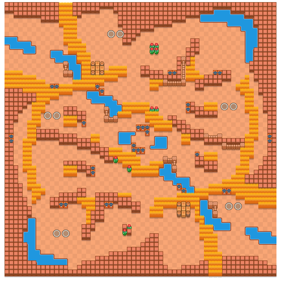 Eye of the Storm is a Duo Showdown Brawl Stars map. Check out Eye of the Storm's map picture for Duo Showdown and the best and recommended brawlers in Brawl Stars.