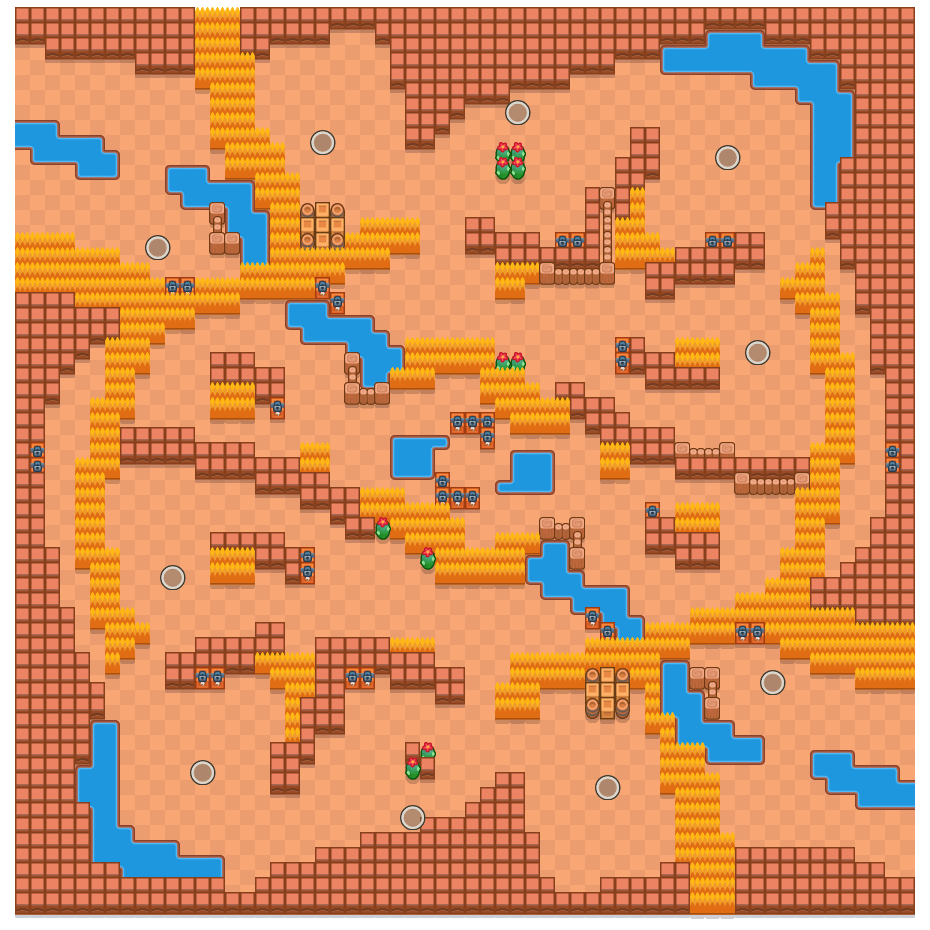 Eye of the Storm is a Solo Showdown Brawl Stars map. Check out Eye of the Storm's map picture for Solo Showdown and the best and recommended brawlers in Brawl Stars.