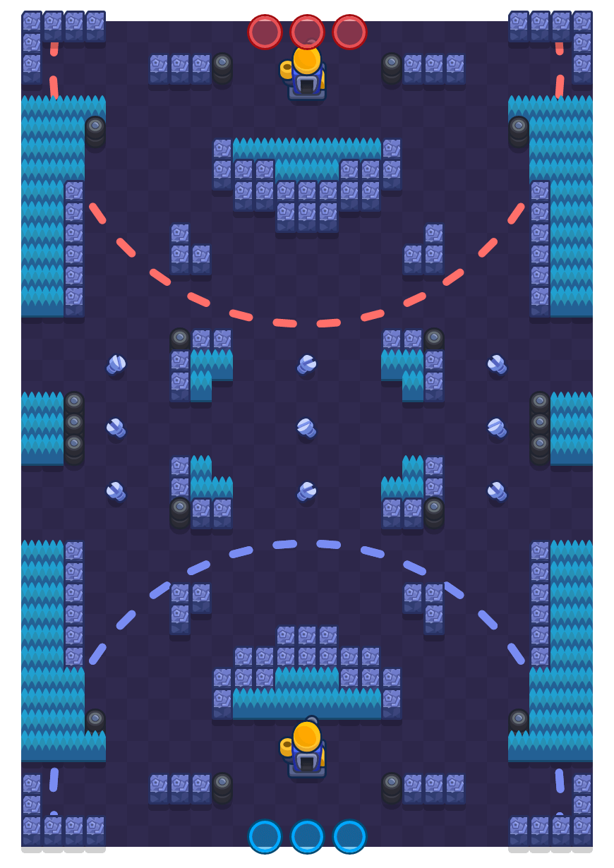 Factory Rush is a Siege map in Brawl Stars.
