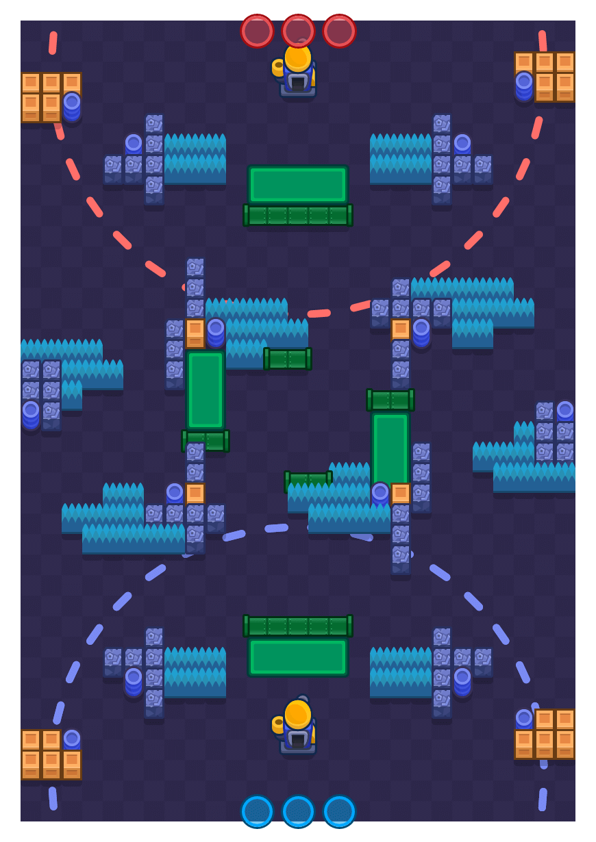 Fenced In is a Siege Brawl Stars map. Check out Fenced In's map picture for Siege and the best and recommended brawlers in Brawl Stars.