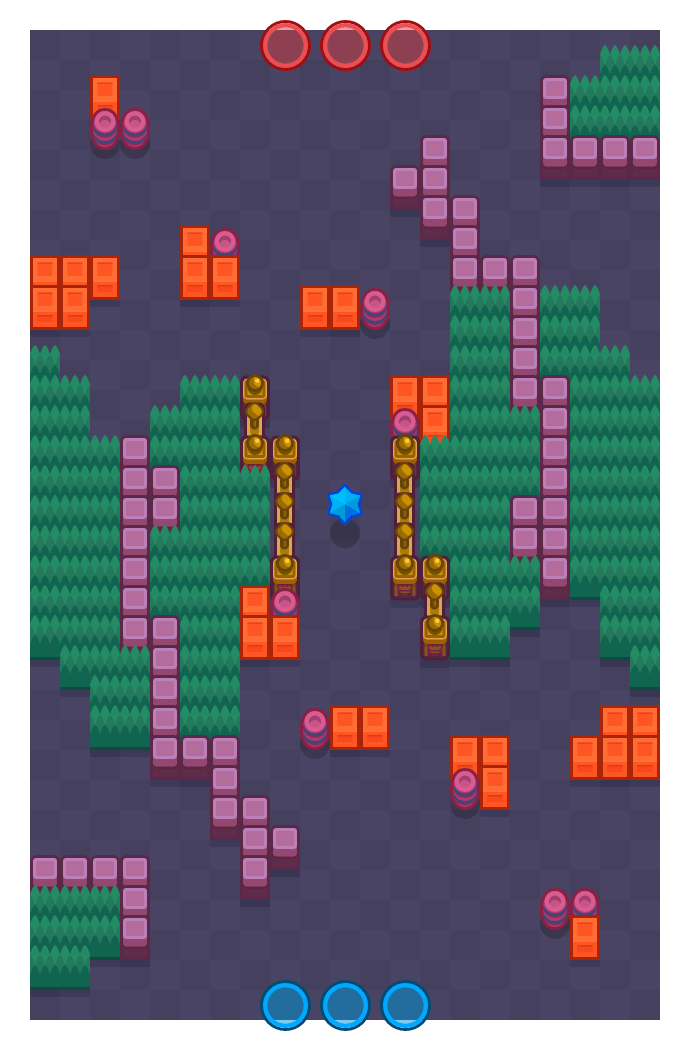 Flanking Maneuver is a Bounty Brawl Stars map. Check out Flanking Maneuver's map picture for Bounty and the best and recommended brawlers in Brawl Stars.