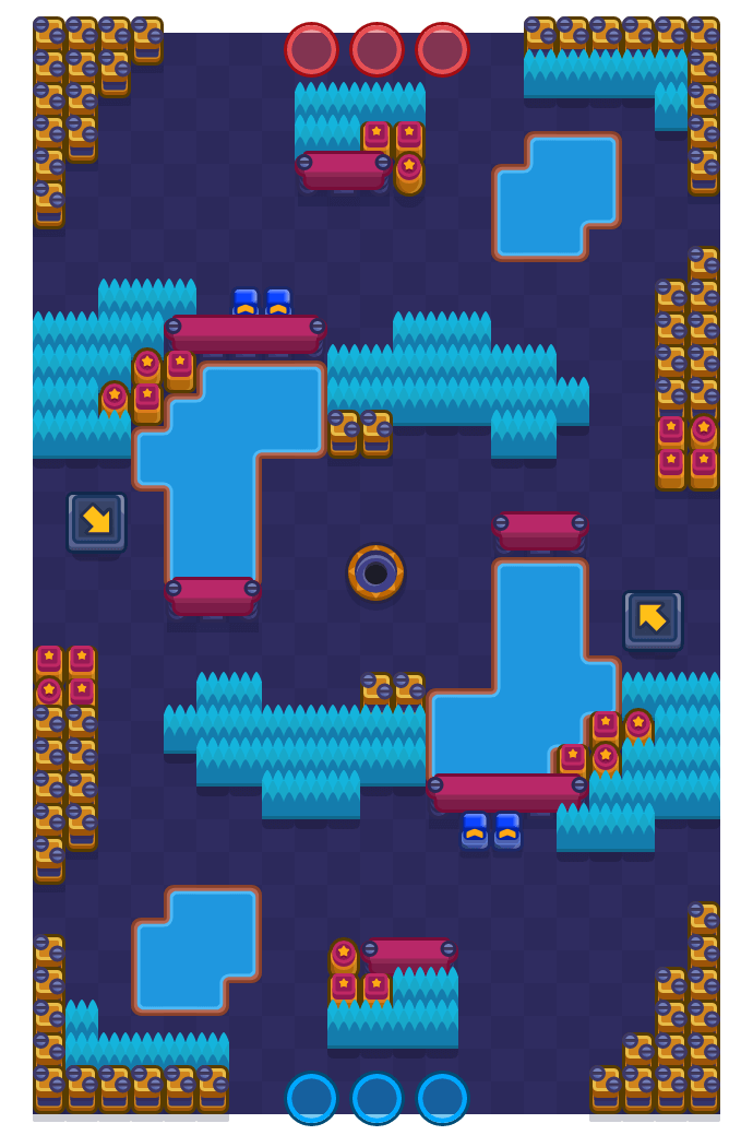 Flooded Dam is a Gem Grab Brawl Stars map. Check out Flooded Dam's map picture for Gem Grab and the best and recommended brawlers in Brawl Stars.