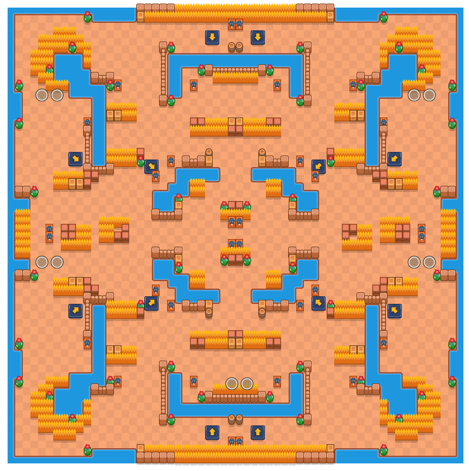 Flying Fantasies is a Duo Showdown Brawl Stars map. Check out Flying Fantasies's map picture for Duo Showdown and the best and recommended brawlers in Brawl Stars.